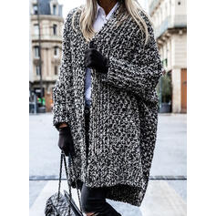 Solid Casual Long Cardigan