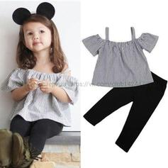 2-pieces Toddler Girl Striped Print Cotton Set
