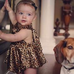 Baby Girl Animal Print One-piece
