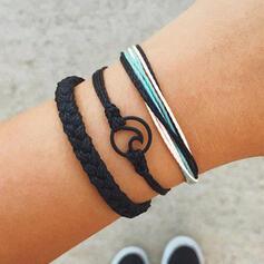 Wave Layered Braided Rope Bracelets (Set of 3)