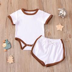 2-pieces Baby Solid Cotton Set