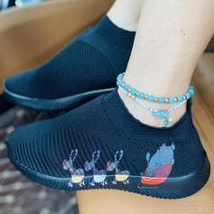 Women's Mesh Flat Heel Flats Low Top With Elastic Band shoes