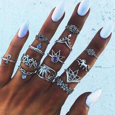 Exotic Boho Alloy Rings Beach Jewelry (set of 13)