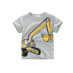 Toddler Boy Cartoon Print Cotton Top