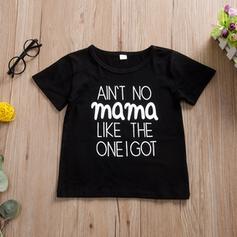 Baby Letter Print Cotton T-shirt