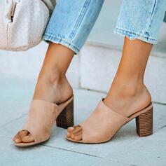 Women's PU Chunky Heel Peep Toe With Others shoes