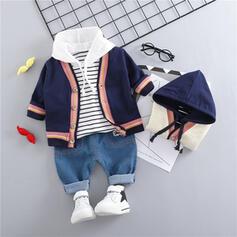 3-pieces Baby Boy Striped Cotton Set