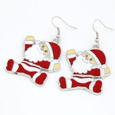 Christmas Santa Alloy Women's Earrings 1 PC