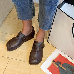Women's PU Flat Heel Flats Slip On With Elastic Band shoes