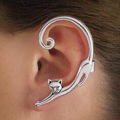 Cat Shaped Animal Alloy Earrings