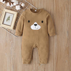 Baby Cartoon Bear Animal Solid Cotton One-piece
