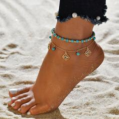 Exotic Alloy With Tag Anklets (Set of 2)