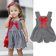 Toddler Girl Bowknot Plaid Cotton Dress