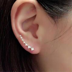Shining Simple Alloy Rhinestones With Rhinestones Earrings 1 PC