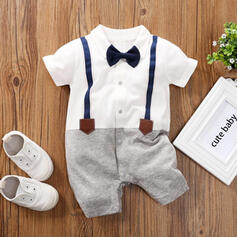 Baby Boy Bow Print Cotton One-piece