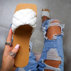 Women's PU Flat Heel Sandals With Solid Color shoes