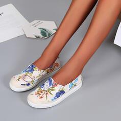 Women's Flat Heel Flats Espadrille With Flower shoes