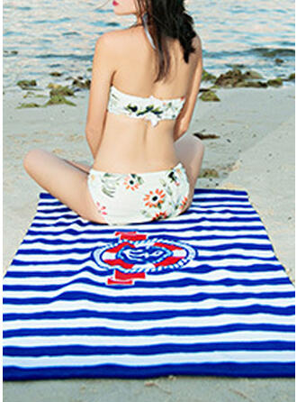 Striped/Retro/Vintage/Geometric Comfortable/Multi-functional/Sand Free/Quick Dry Beach Towel