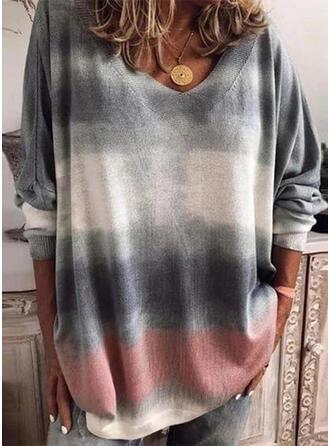 Tie Dye V-Neck Sweaters