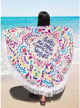 Retro/Vintage/Tassel/Bohemia/Geometric/Colorful round/Boho/Multi-functional/Sand Free/Quick Dry Beach Towel