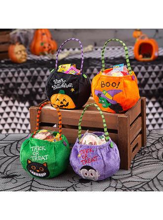 Gothic Bat Halloween Pumpkin Witch Non-Woven Fabric Halloween Props Candy Bags