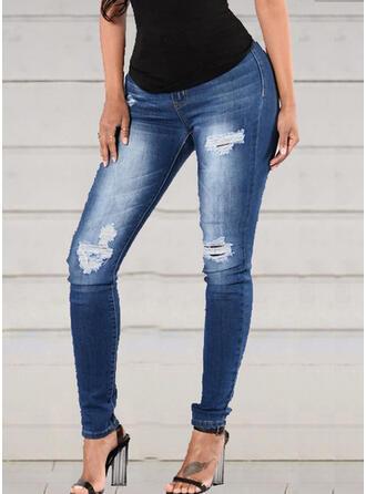 Ripped Tassel Long Elegant Sexy Skinny Denim & Jeans