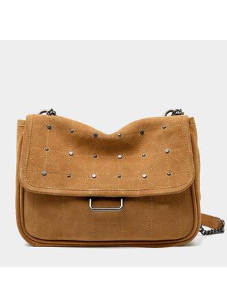 Fashionable/Vintga/Solid Color Crossbody Bags