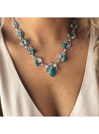 Exotic Boho Alloy Turquoise Necklaces