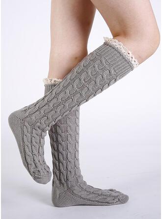 Striped/Solid Color Comfortable/Calf Socks Socks