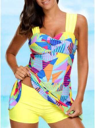 Floral Strap Halter Swimdresses Swimsuits