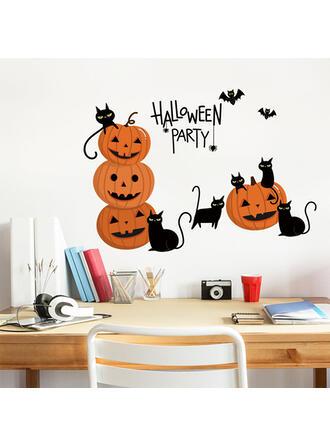 Gothic Halloween Pumpkin PVC Sticker Halloween Decorations