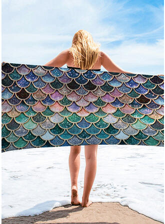 Color Block/Tassel/Animal/Gradient color/Colorful round/Boho/Multi-functional/Sand Free/Quick Dry Beach Towel