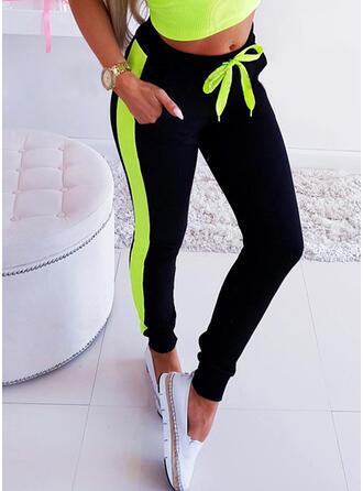 Shirred Drawstring Long Casual Sexy Pants