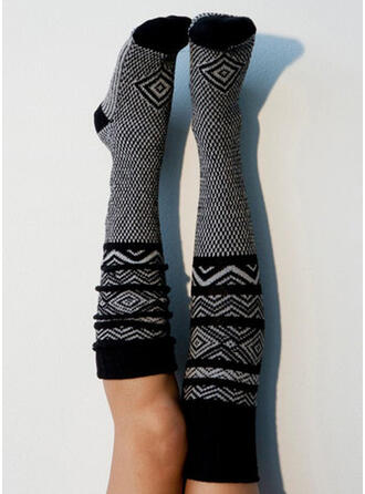 Geometric Print Breathable/Knee-High Socks Socks/Stockings