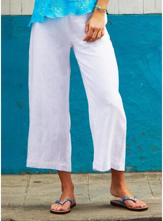 Shirred Plus Size midi Boho Casual Pants