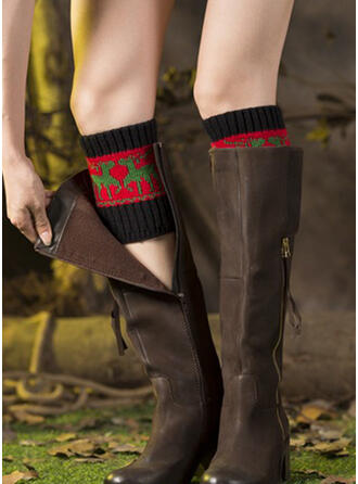 Christmas Reindeer Comfortable/Leg Warmers/Boot Cuff Socks Socks