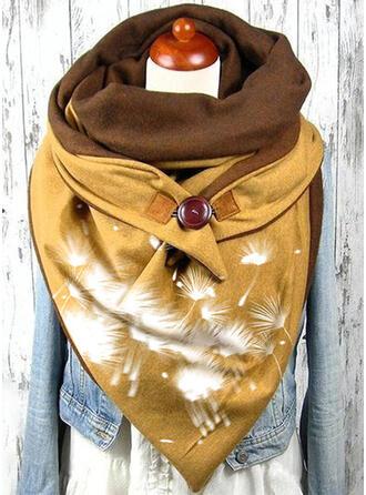Geometric Print/Stitching Oversized/fashion/Comfortable Scarf