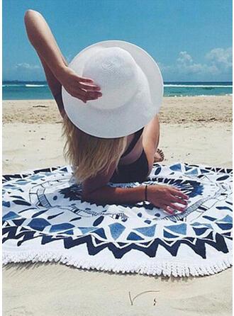 Color Block/Retro/Vintage/Tassel/Bohemia/Geometric round/Boho/Multi-functional/Sand Free/Quick Dry Beach Towel