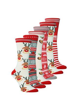 Christmas Reindeer Comfortable/Christmas/Crew Socks Socks