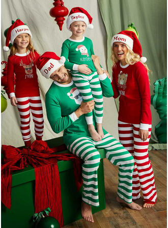 Santa Reindeer Color-block Bear Striped Floral Christmas Family Matching Christmas Pajamas