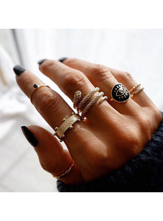 Vintage Twist Alloy With Eye Rings (Set of 4)