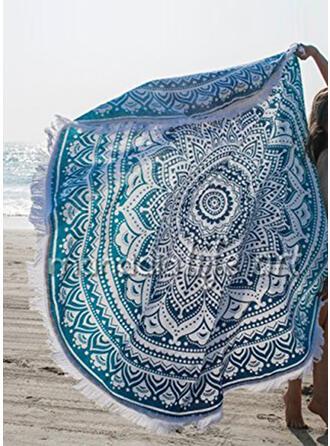 Retro/Vintage/Tassel/Bohemia Light Weight/Oversized/round/Multi-functional/Sand Free/Quick Dry Beach Towel