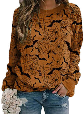 Halloween Round Neck Long Sleeves Sweatshirt
