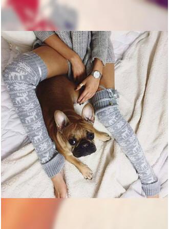 Print Breathable/Comfortable/Christmas/Knee-High Socks Socks/Stockings