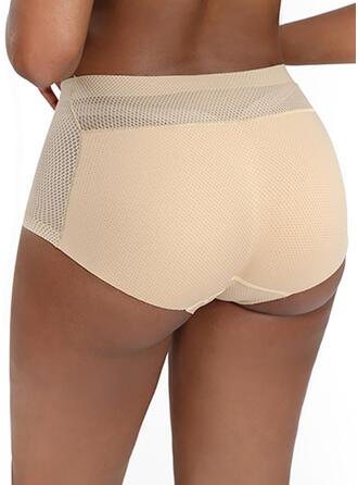 Plain Mesh Brief Panty