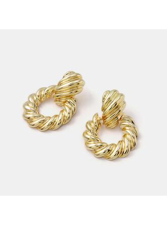 Simple Twist Alloy Earrings (Set of 2)