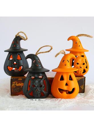 Horrifying Halloween Pumpkin Resin Halloween Props Halloween Decorations (Set of 4)