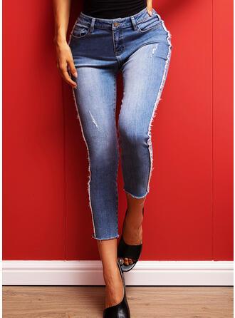 Ripped Long Denim Denim & Jeans