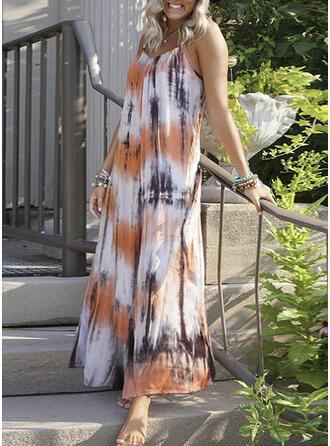 Splice color Strap V-Neck Plus Size Casual Boho Cover-ups Swimsuits