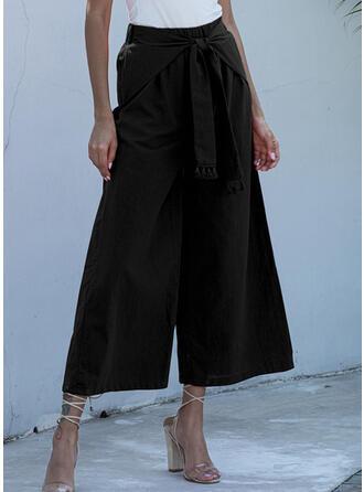 Pockets Shirred midi Boho Elegant Pants
